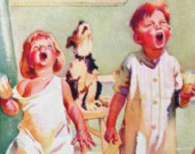 gargling kids