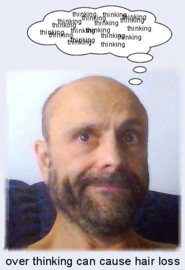 overthinking bald