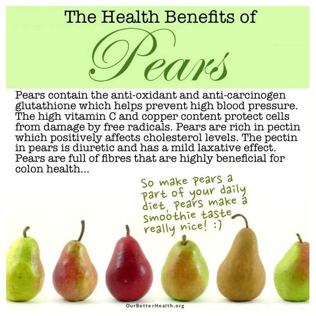 pears health benefits and nutritional information our